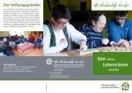 Stiftung Offene Behindertenhilfe Schweinfurt - Lebenshilfe Schweinfurt