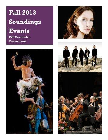 Fall 2013 Soundings Events Fall 2013 Soundings Events
