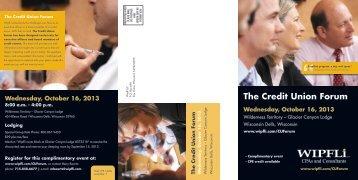The Credit Union Forum W - Wipfli