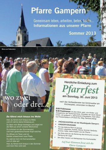 Pfarrinfo Sommer 2013 - Pfarre Gampern