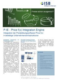 P-IE - Price f(x) Integration Engine - ISB AG
