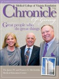 Chronicle Summer 2011 - MCV Foundation