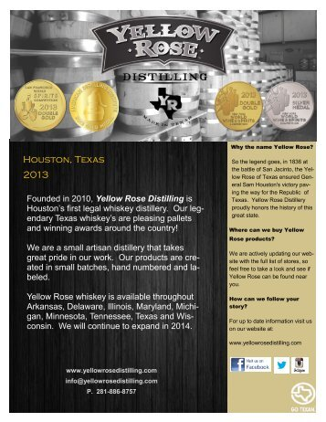 media kit - Yellow Rose Distilling