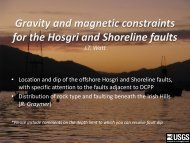 Gravity and magnetic constraints for the Hosgri and Shoreline faults