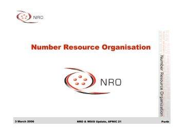 Number Resource Organisation - apnic