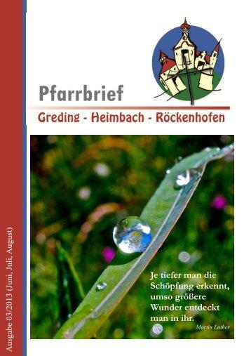 Download als PDF - Pfarrverband Greding