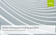 Online-Kampagnen richtig gestalten - Unic.com Magazin