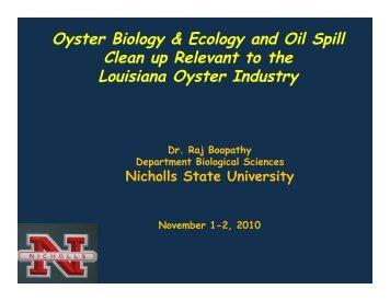 Raj Boopathy, Nicholls - Louisiana Board of Regents