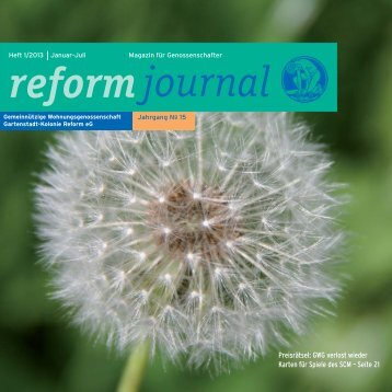 Journal 1/2013 www - GWG Reform E.g.