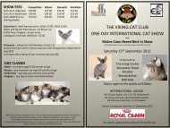 VCC Show Schedule - Alcester 15/9/12 (PDF) - Viking Cat Club