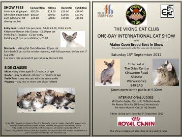 VCC Show Schedule - Alcester 15/9/12 (PDF) - Viking Cat Club