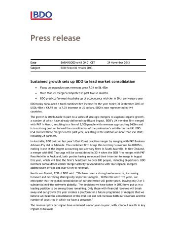 Press release - Accountancy Nieuws