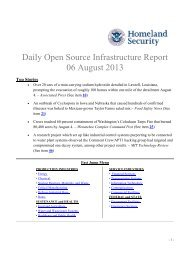 August 6, 2013 - Homeland Security