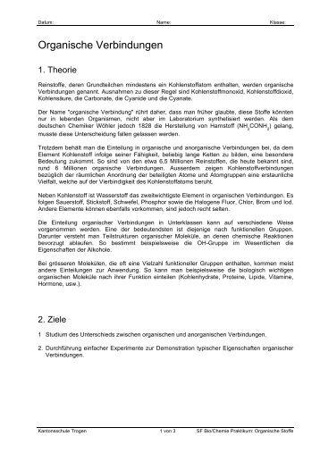 Organische Verbindungen - Kantonsschule Trogen