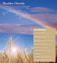 Celebrating 46 Years Of Artistically - Boulder Chorale