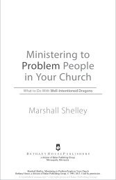 Ministering to Problem People in Your Church - Baker Publishing ...