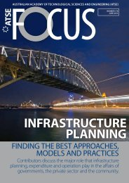 INFRASTRUCTURE PLANNING - Australian Academy of ...