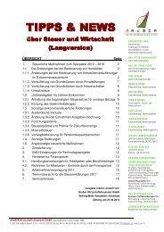 Tipps & News 2/2012 - Gruber Wirtschaftstreuhand GmbH