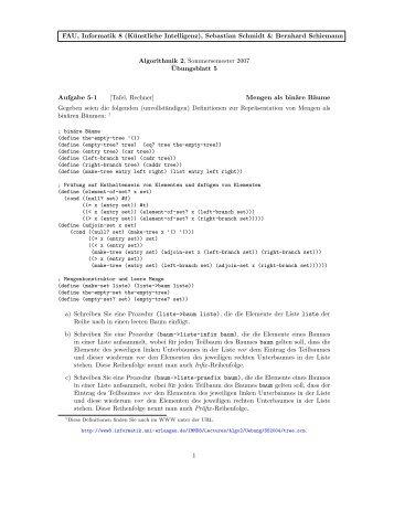 Ubungsblatt 5 - Professur für Künstliche Intelligenz