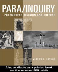 PARA/ INQUIRY Postmodern Religion and Culture Victor E ... - IMIC