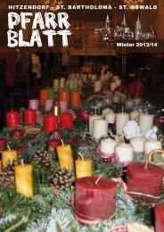 Pfarrblatt Winter 2013 - Pfarrverband Hitzendorf - Diözese Graz ...