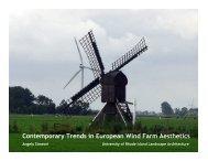 Wind: The European Experience (PDF) - University of Rhode Island