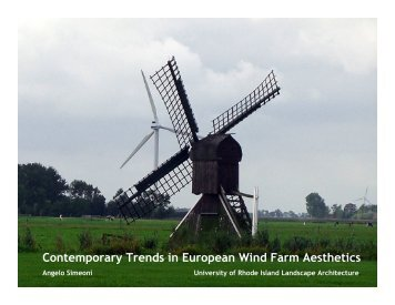Wind: The European Experience (PDF) - University of Rhode Island