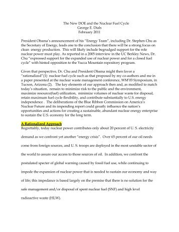 February 2008 - Blue Ribbon Commission on America's Nuclear ...