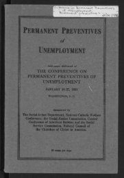 the conference on permanent preventives of unemployment - Digital ...