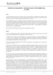 Corte di Cassazione, Sezione I Civile, Sentenza n ... - BusinessJus