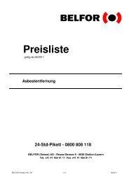 Preisliste - Belfor