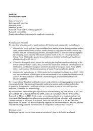 Research statement Jon Kvist 2013