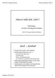 """Warum heißt Gott ""Gott""? ""Kind"" – ""Kindheit"" - St. Virgil Salzburg"