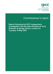 Nicholas Report - Independent Police Complaints Commission