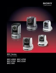 Sony BRC Series 2012 - ZTV Broadcast Services Inc.