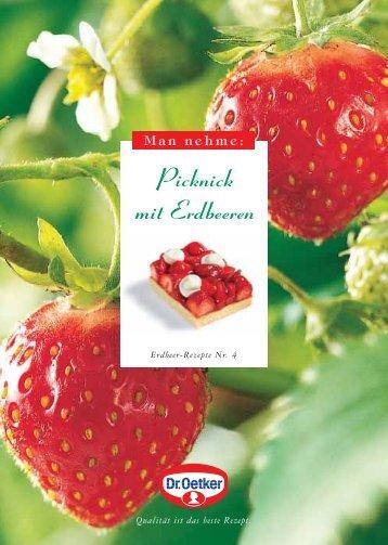 Picknick mit Erdbeeren