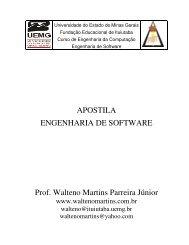 APOSTILA ENGENHARIA DE SOFTWARE Prof. Walteno Martins ...