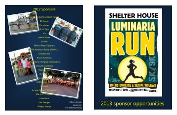 to download the sponsorship packet. - Shelter House