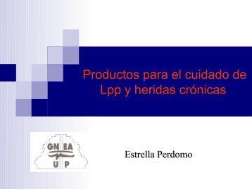 Productos para el cuidado de Lpp y heridas crónicas
