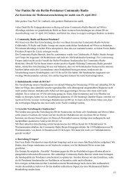 4 Punkte Korrektur an Medienrat 2012 - Freies Radio in Berlin auf ...