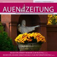 Oktober/November 2013 - Auenkirche Berlin-Wilmersdorf