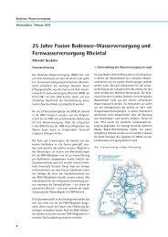 25 Jahre Fusion Bodensee-Wasserversorgung - Zweckverband ...