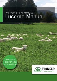 Lucerne Manual - Pioneer® Brand Products