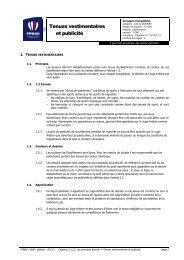 Tenues vestimentaires et publicité - Fédération Française De ...