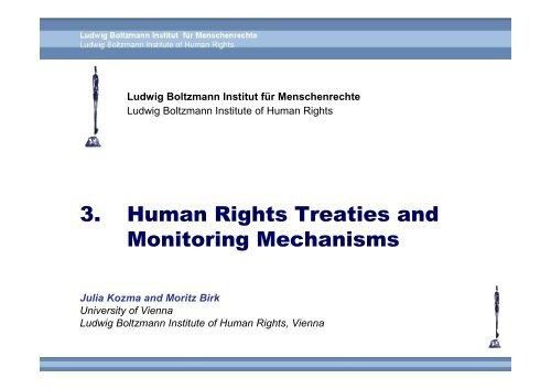 Monitoring - Ludwig Boltzmann Institut für Menschenrechte