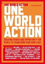 One World Action Annual Report 2010 - Womankind Worldwide