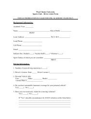 Driver's Attest Form - West Chester University