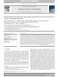 Reduced prefrontal oxygenation during object and spatial visual ...