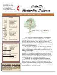 November 12, 2012 - Bellville United Methodist Church