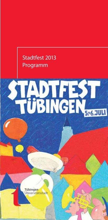 Flyer & Programm Stadtfest Tübingen 2013